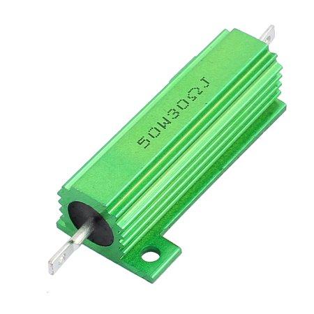 50W 30 Ohm Green Aluminum Shell Clad Resistor Thread - Green Resistor