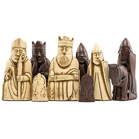 Isle of Lewis Chess Pieces-Stone Resin in Antique White and Russet Brown and Play Chess - Have Fun! Ebook for PCs (2 item (Fun Games To Play With 6 People)