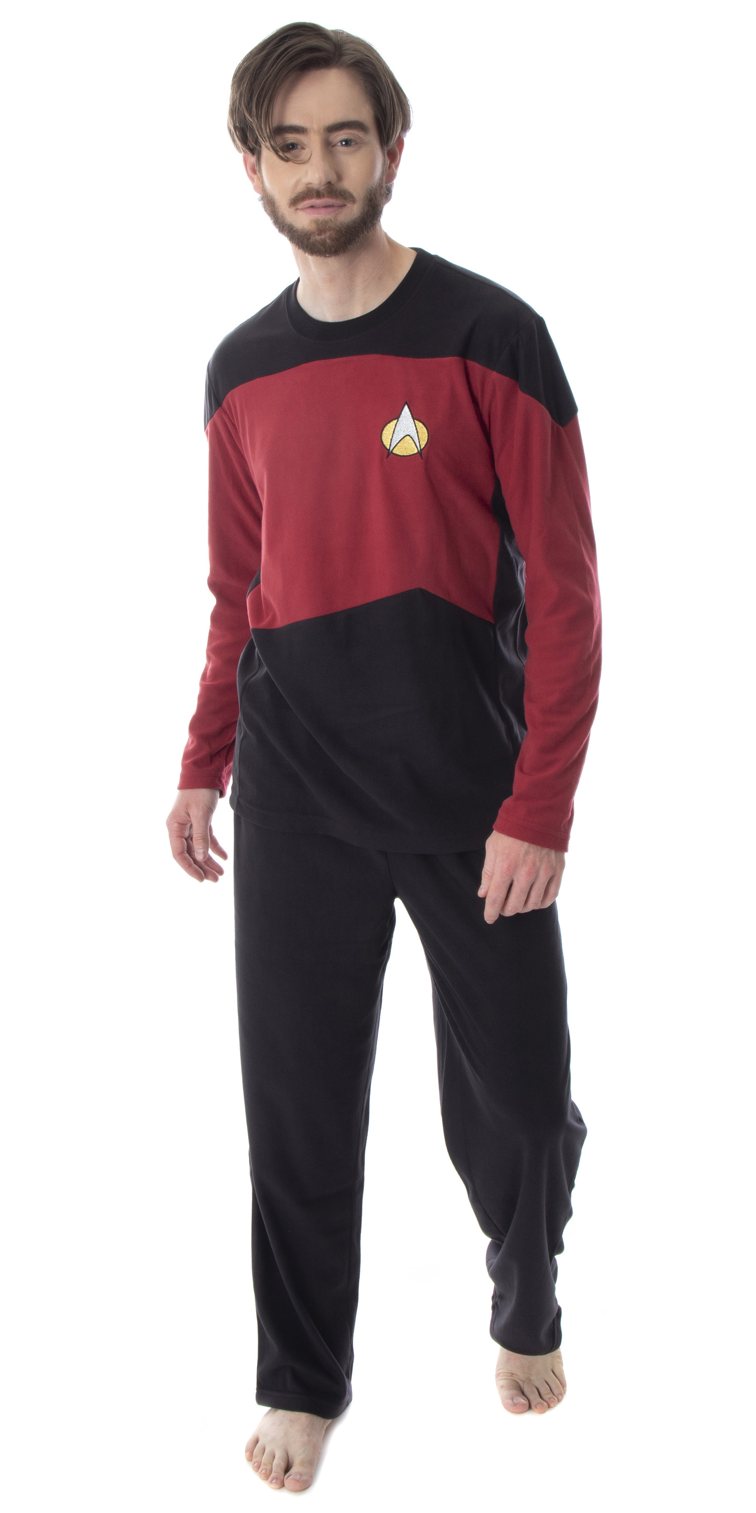 Star Trek The Next Generation Men/'s Allover Character Sleep Pajama Pants SM