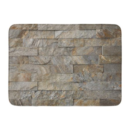 GODPOK Thin Beige Cladding Natural Stone Granite Pieces Tiles for Walls Orange Slate Ledgestone Rug Doormat Bath Mat 23.6x15.7 inch