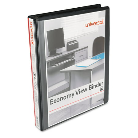 1 Capacity Black Binders (Universal Round Ring Economy View Binder, 1