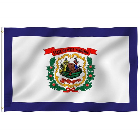 - 3x5 Foot West Virginia Flag Double Stitched West Virginia State Flag with Brass Grommets | 3 by 5 Foot Premium Indoor Outdoor Polyester Banner Flag