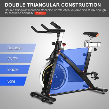 Goplus Exercise Bike Cycle Trainer Indoor Workout Cardio Fitness Bicycle Stationary - image 7 de 10