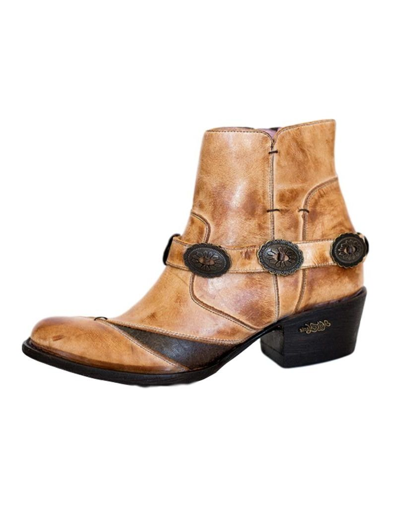Miss Macie Fashion Boots Womens Sunset Dancer Ankle Caramel U7007-01