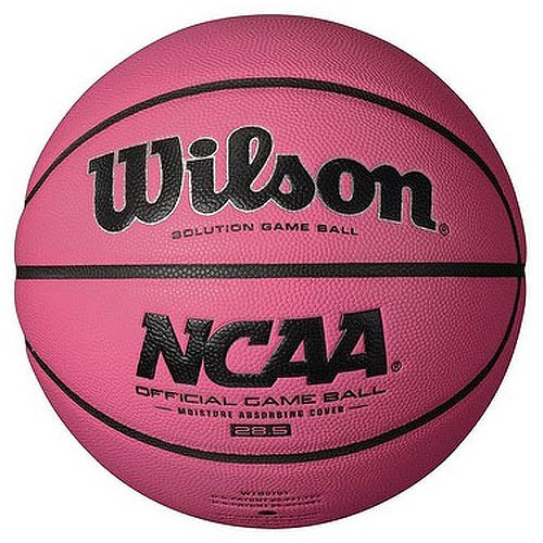 Wilson WTB0731IDPINK 28.5-Inch NCAA Pink Replica Game Basketball