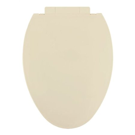 Centoco 1700SC-106-A Plastic Elongated Slow-Close Toilet Seat, Bone