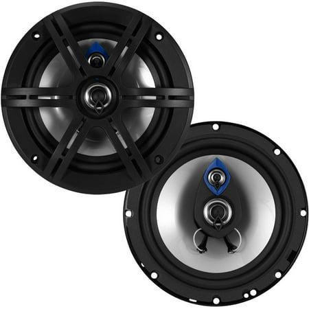 Planet Audio PL63 Pulse 300 Watt (Per Pair), 6.5 Inch, Full Range, 3 Way Car Speakers (Sold in