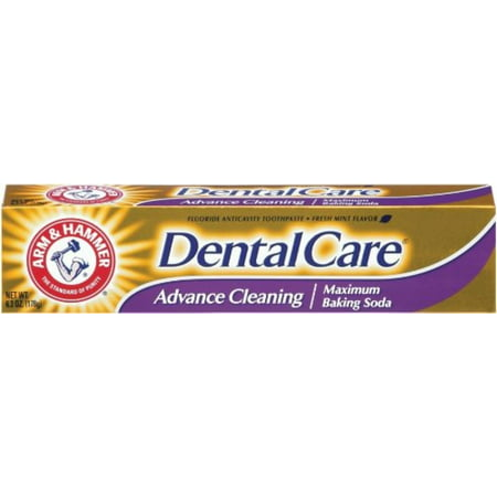 ARM & HAMMER Dental Care Fluoride Toothpaste, Advance Cleaning, Maximum Strength, Fresh Mint 6.30 oz (Pack of 4)