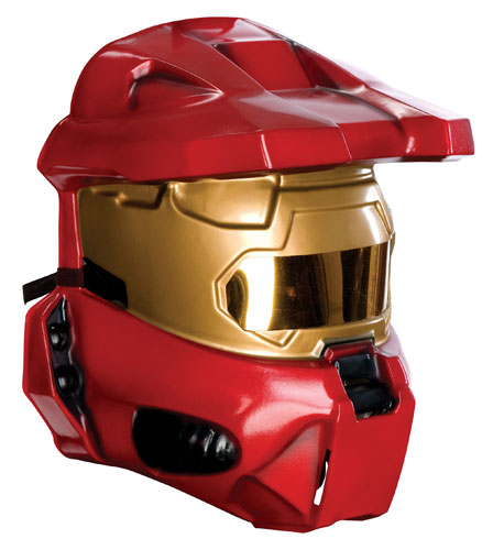 Halo Red Spartan Half Mask Halloween Costume Accessory