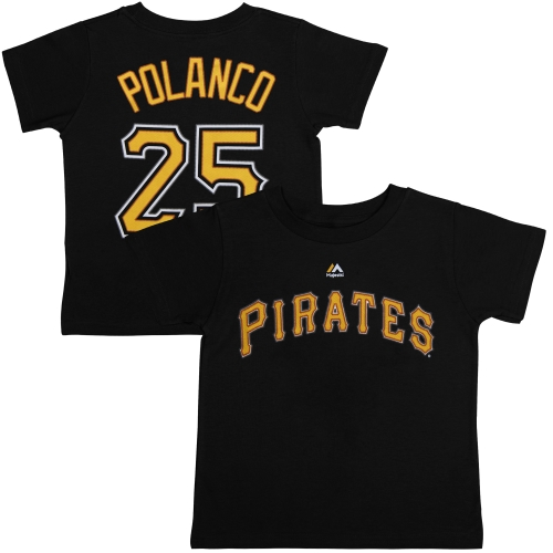 Gregory Polanco Pittsburgh Pirates Majestic Youth Player Name & Number T-Shirt - Black