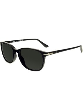 031d6512635d9 Product Image Persol Women s Polarized PO3133S-901458-52 Black Rectangle  Sunglasses