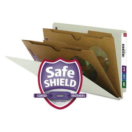 - Smead Pressboard End Tab Classification Folder, Pockets, Legal, Six-Section, 10/Box -SMD29710