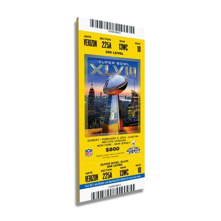Super Bowl 42 Tickets (Seattle Seahawks Super Bowl XLVII Commemorative Mini-Mega Ticket - No Size )
