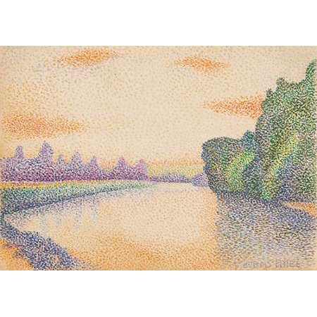 The Banks Of The Marne At Dawn Poster Print By Albert Dubois Pillet