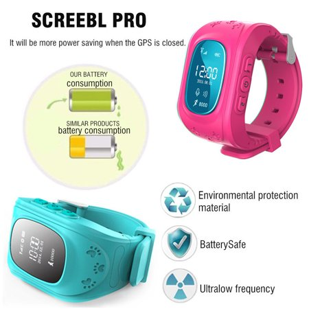 Anti-lost Smart Watch GPS Tracker SOS Call GSM SIM Gifts For Child Kids - image 1 of 11