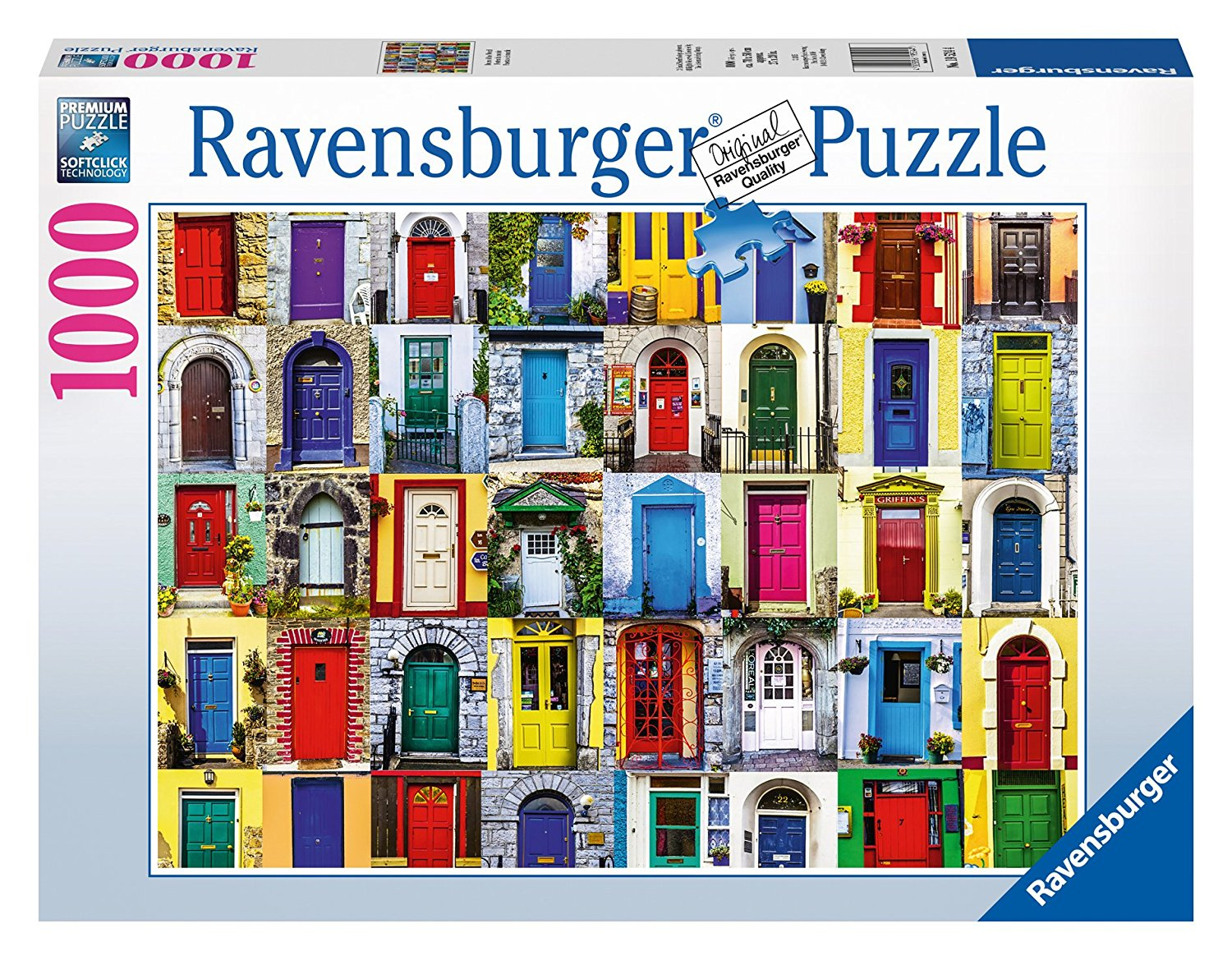 Doors of the World Puzzle (1000-Piece), USA, Brand Ravensburger by