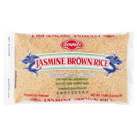 (3 Pack) Dynasty Jasmine Brown Rice, 5 lb