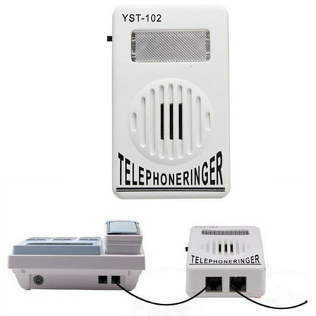 Telephone Ringer up to 95dB With Strobe Light Flasher Extra-Loud Bell Ringer - image 7 de 7