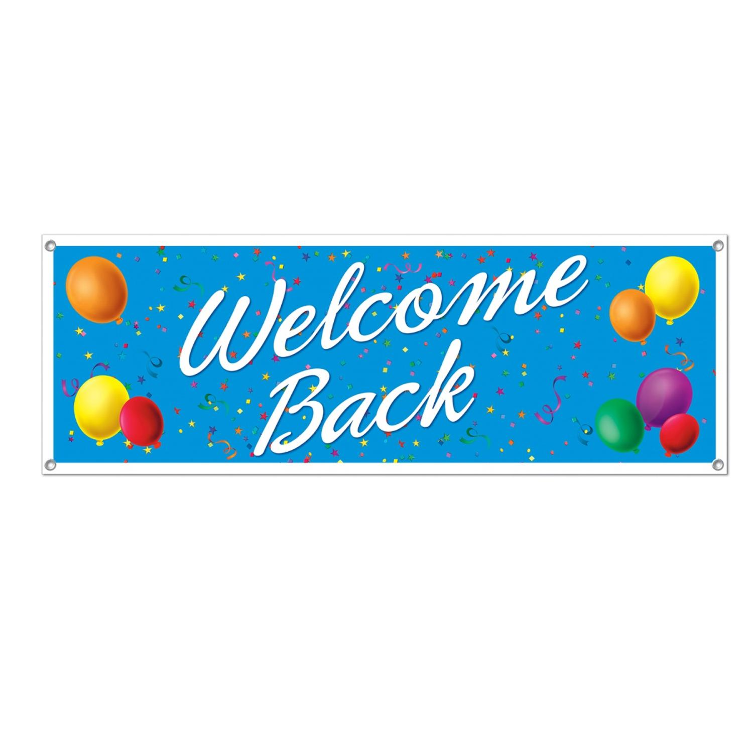 Club Pack of 12 Fun, Festive and Exciting Colorful Welcome Back Sign Banners 60""