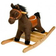 Melissa & Doug Plush Rocking Horse - Wooden Base and Handles Plus Saddle and Harness