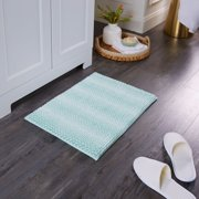 "Better Homes & Gardens Ombre Memory Foam Noodle Bath Mat, Aquifer, 20"" x34"""