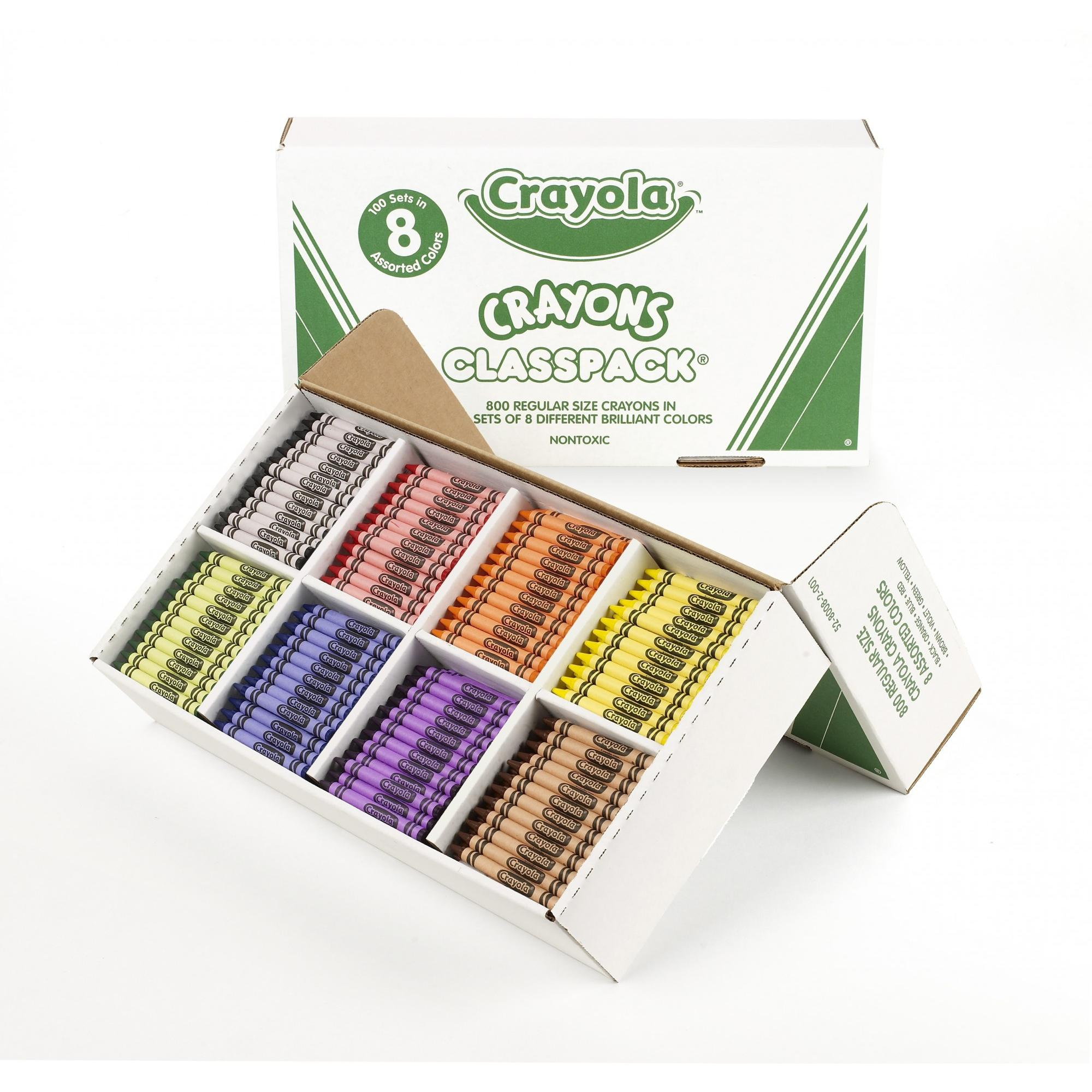 Crayola Classpack of Regular Crayons, 8 Colors, 800-Count