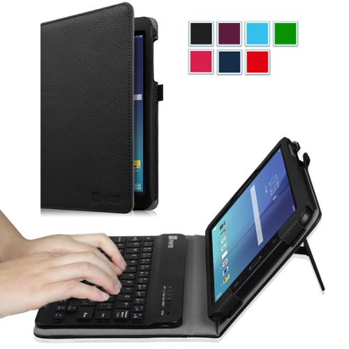 Fintie Keyboard Case for Samsung Galaxy Tab E 8.0 Tablet - Slim Fit Stand Cover with Removable Bluetooth Keyboard, Black