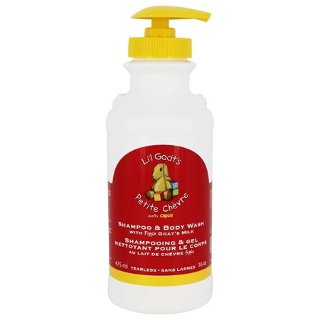 Goats Milk Shampoo - Canus - Li'l Goat's Tearless Shampoo & Body Wash with Fresh Goat's Milk - 16 oz.