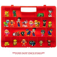 Life Made Better, Sturdy Kid Proof Red Toy Holder with a Solid All-in-One Handle, Compatible with Paw Patrol Mini Figures, Pr