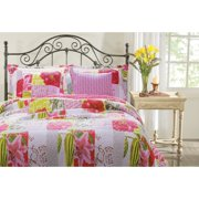 Greenland Home Fashions Love Letters 100pct Cotton Reversible Quilt Set