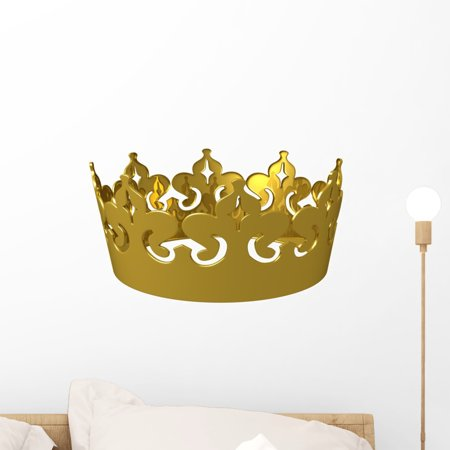 kings gold crown wall decalwallmonkeys peel and stick graphic