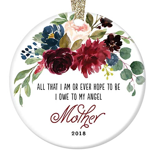 2018 Memorial Ornament Christmas Gift Remembering Mother Porcelain