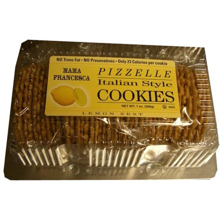 Lemon Cookies Recipe - Pizzelle, Italian Style Lemon Flavor Cookies, 7oz