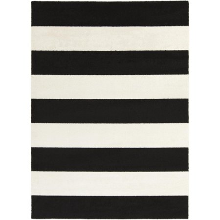 2 39 X 3 39 Bold Stripes Black And Snow White Decorative Area Throw Rug