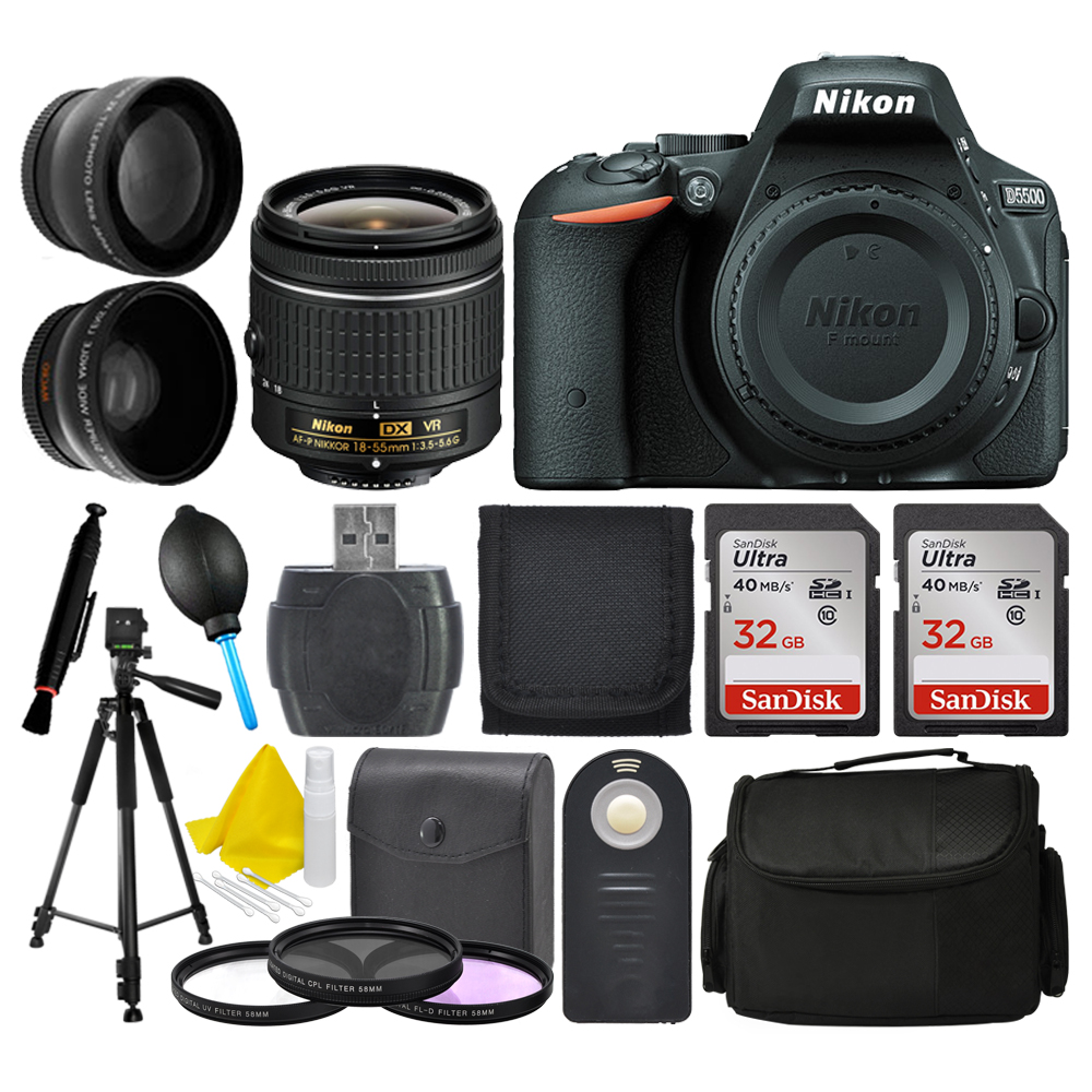 Nikon D5500 DX-format Digital SLR Body + 18-55mm VR AF-P ...