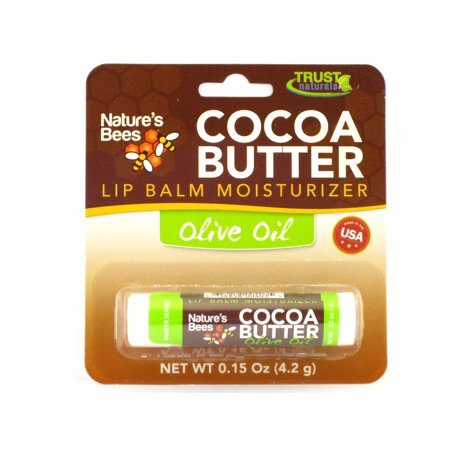 Nature's Bees Cocoa Butter Lip Balms Moisturizer - 0.15 oz. (Olive Oil)