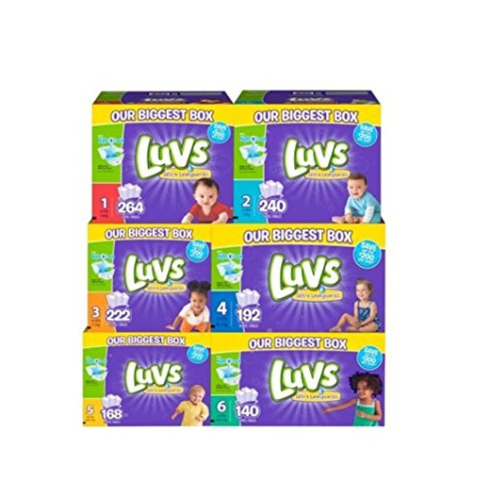 diapers, size 4, 160 count, NightLock: Our largest absorbency area ever helps lock away leaks, even overnight. By Luvs