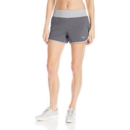 Mizuno Running Shorts (Mizuno Running Women's Active Knit Shorts, Black/Light Grey, Large)