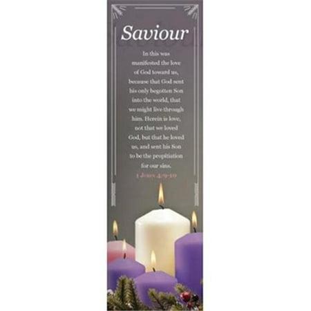 B & H Publishing 152588 Adventure Emmanuel & Saviour Bookmark - 1 John  4-9-10 KJV - Pack of 25