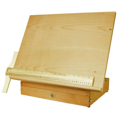 "US Art Supply ""Sketch Master"" Adjustable Wood Artist Drawing & Sketching Board With Storage Drawer"