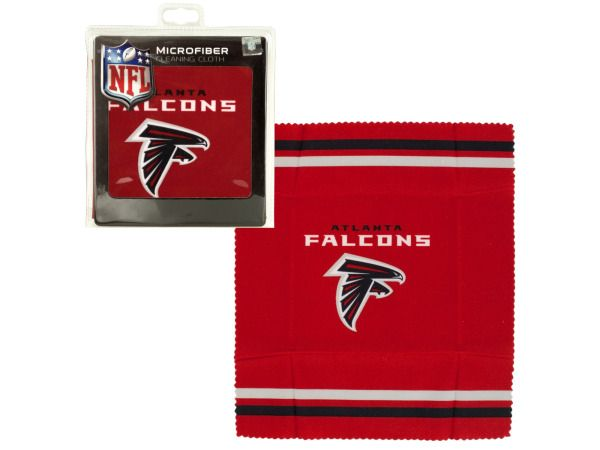 Bulk Buys Atlanta Falcons Microfiber Eyeglass Cleaning Cloth, Case of 24 by Bulk Buys