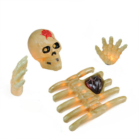 Napolean Blownapart Skeleton with Beating Heart Halloween Outdoor - Wooden Outdoor Halloween Decorations