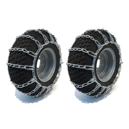 PAIR 2 Link TIRE CHAINS 22x11x10 fits many Yamaha Grizzly Kodiak Raptor ATV Quad by The ROP Shop
