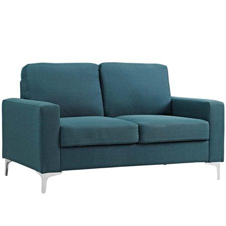 Modern Contemporary Urban Design Living Room Lounge Club Lobby Sofa,  Fabric, Blue