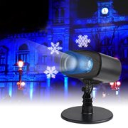 Indoor Outdoor LED Moving Laser Projector Light Landscape Garden Xmas Lamp,Waterproof Snowflake Rotating Projector Lights for Thanksgiving Christmas Carnival New Year Birthday