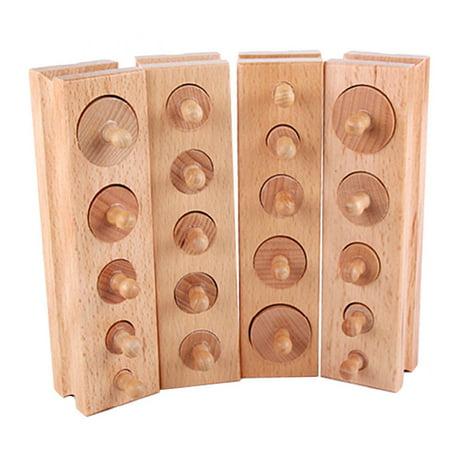 Montessori Materials Montessori Toys Educational Games Cylinder Socket Blocks - image 2 de 7