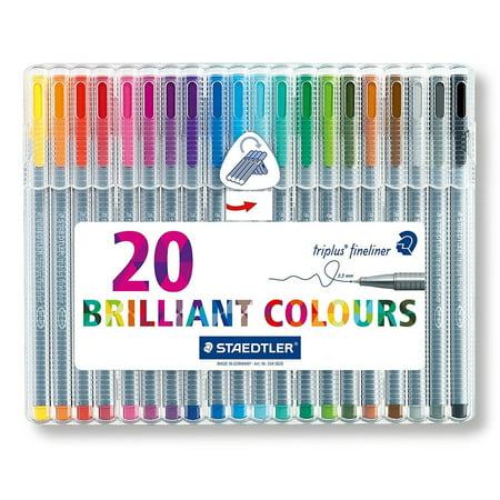 Staedtler Triplus Colour - Staedtler Triplus Fineliner Pens: 20 Assorted Colors