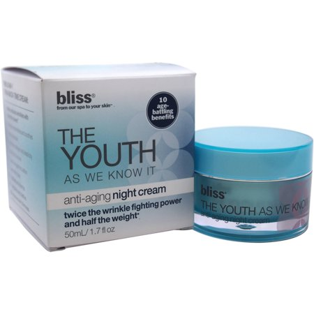 Bliss The Youth as We Know It Anti-Aging Night Cream for Women, 1.7 fl oz