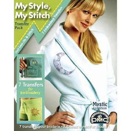 Dmc My Style  My Stitch Iron On Transfer Kit Mystic  Use These Trendy Iron On Transfers To Creatively Embellish With Thread And Quickly Transform Your Fa By Joann Fabric And Craft Stores