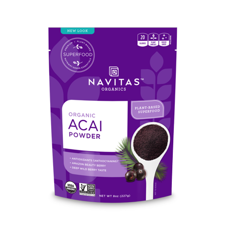 Super Acai Berry (Navitas Organics Acai Powder, 8.0 Oz, 76 Servings)